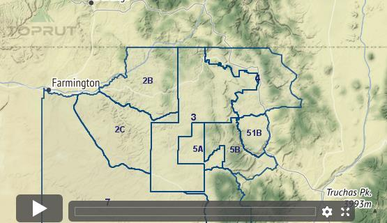 Unit 2b New Mexico Map.New Mexico Mule Deer Unit 3 Draw Odds Tag Information And More