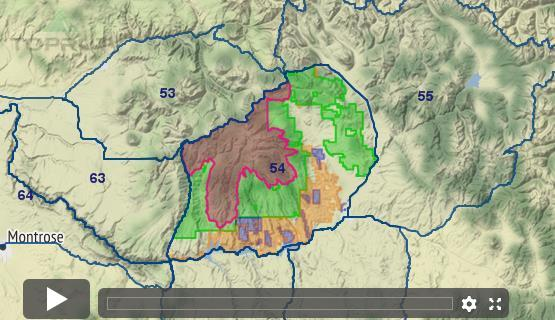 Colorado Elk Unit Draw Odds Tag Information And More - Colorado hunting zone map
