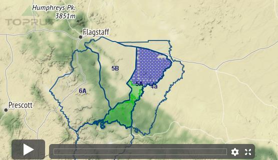 Map Of Unit 5a Arizona.Arizona Elk Unit 5a Draw Odds Tag Information And More
