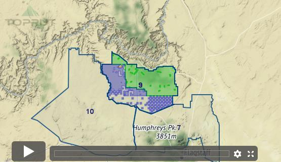 Map Of Unit 23 Arizona.Arizona Elk Unit 9 Draw Odds Tag Information And More